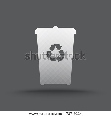 Vector of transparent recycle bin icon on isolated background