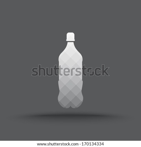 Vector of transparent water bottle icon on isolated background - stock vector