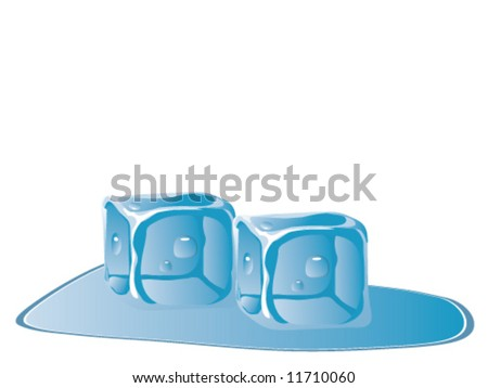 Vector of two ice cubes