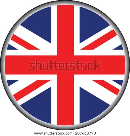 vector of united kingdom badge - stock vector