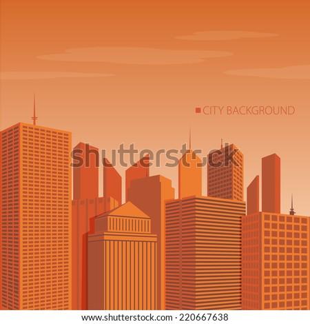 Vector of urban city  - stock vector