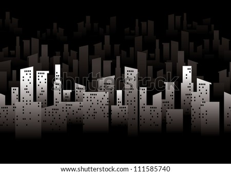 vector of urban graphical city and building - stock vector
