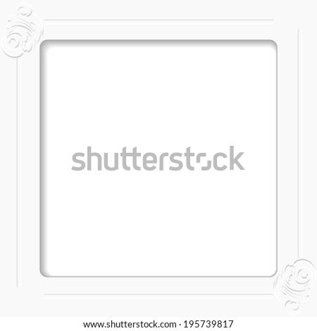 vector of volume design element with shadow  for invitation card or other your ideas