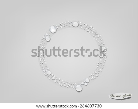 vector of water drop in circle form - stock vector