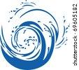 Vector of water wave - stock vector
