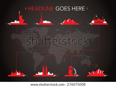 Vector of worldwide cities infographics - stock vector