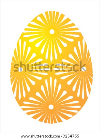 Vector of yellow egg on white background