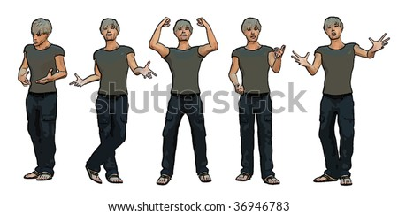 Vector of young man - part 02