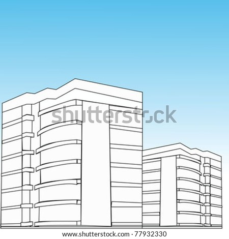 vector office building - stock vector