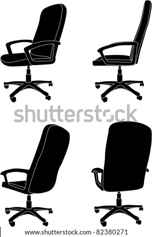 Vector office chair - stock vector