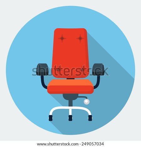 Vector office chair icon  - stock vector