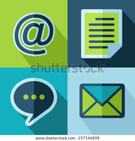 Vector office set icons. Eps10 - stock vector