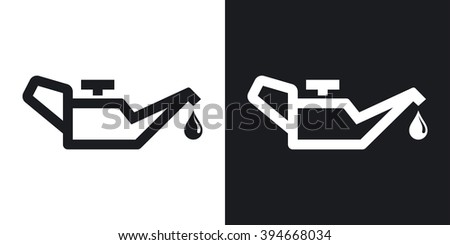 Vector oiler icon. Two-tone version on black and white background