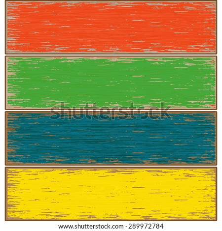 Vector old colored Wooden Texture. Illustration - stock vector