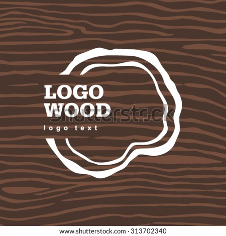 Vector old dry brown wood loogo - stock vector
