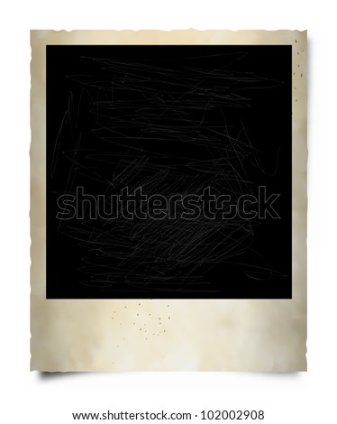 Vector Old Instant Photo Frame - stock vector