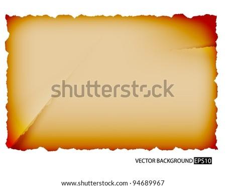 Vector old paper sheet - stock vector