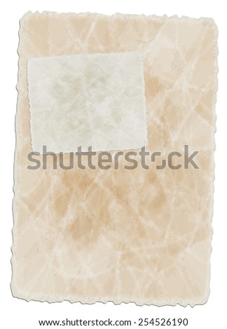 vector old paper sheets