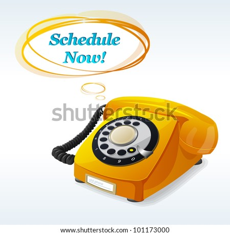 Vector Old phone - stock vector