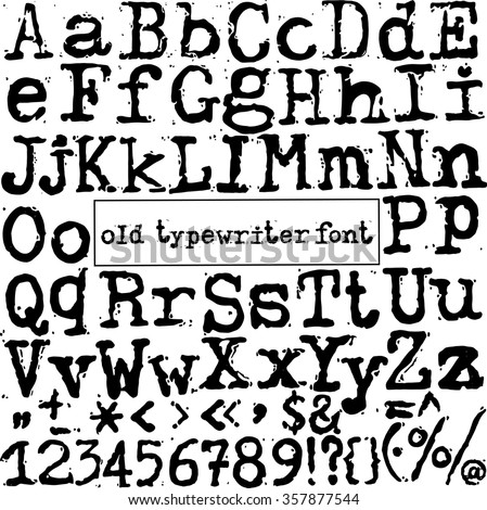 Newspaper magazine alphabet letters numbers symbols stock for Classic house number fonts