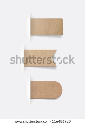 Vector old vintage paper textured tags collection - stock vector