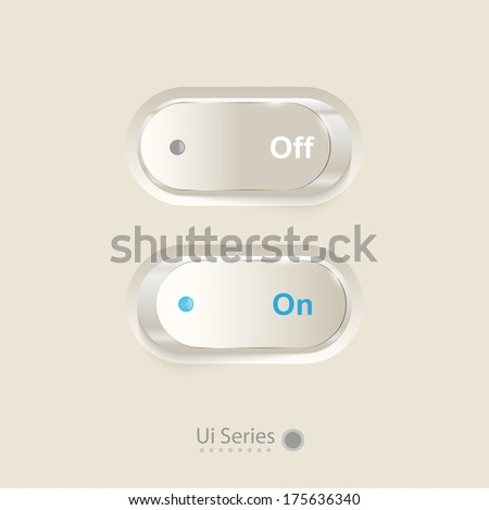 Vector ON\OFF switch. - stock vector