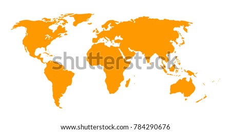 Vector one shape world map stock vector 784290676 shutterstock vector one shape world map gumiabroncs Image collections