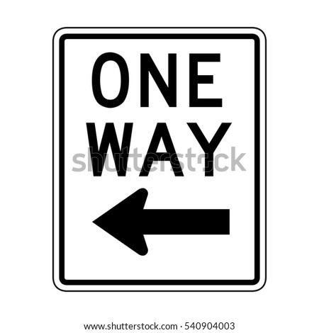 Vector One Way Sign Icon