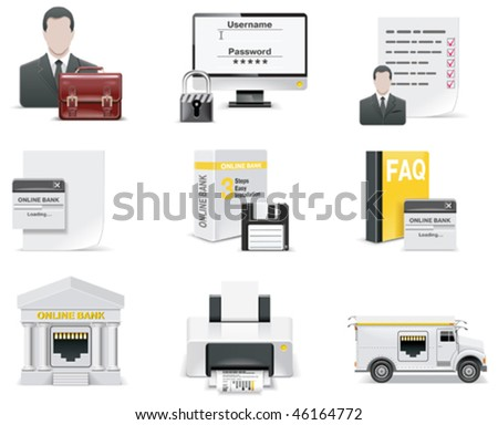 Vector online banking icon set. Part 1 - stock vector