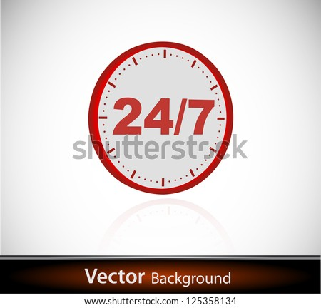 vector online shopping time concept - stock vector