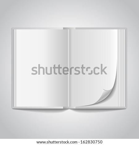 Vector open blank book - stock vector