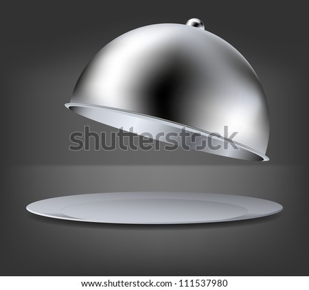 vector open tray on gray background. Eps 10 - stock vector