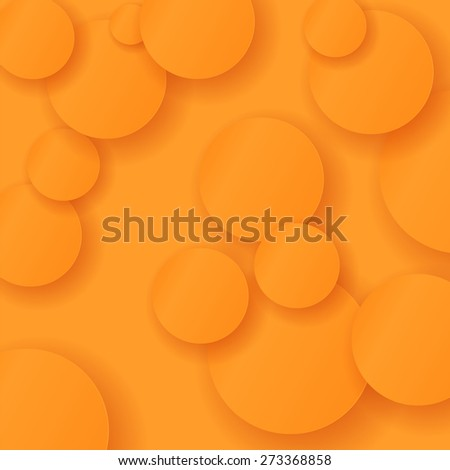 Vector Orange Circle Modern Background. Abstract Circle Pattern - stock vector