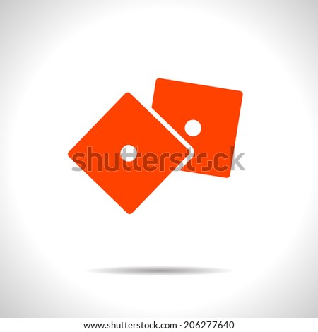 Vector orange dice icon. Eps10 - stock vector