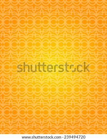 Vector orange gradient background with pattern. - stock vector