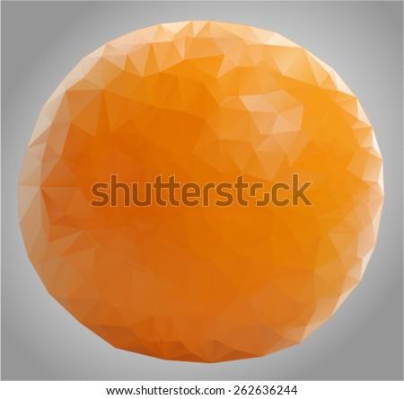 vector orange in cubism style - stock vector