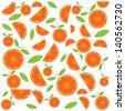 Vector orange pattern - stock vector