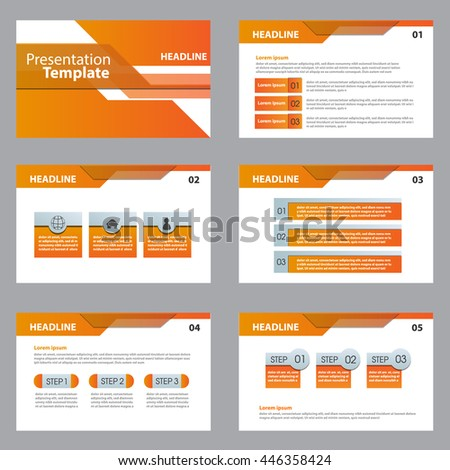 vector orange templates for presentation slides. Abstract colored background, triangle design vector illustration