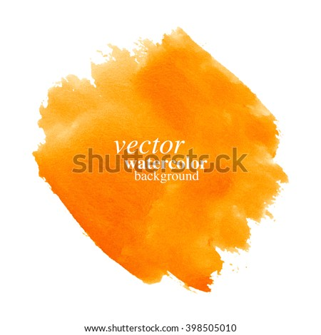 Vector orange watercolor abstract background