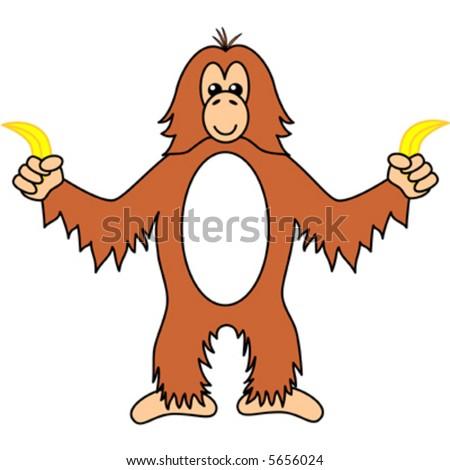 vector orangutan bananas stock vector hd royalty free 5656024 rh shutterstock com free clipart orangutan free clipart orangutan
