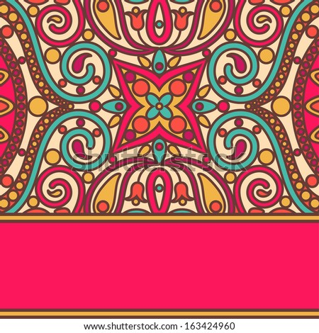 vector orient bright lace card - stock vector