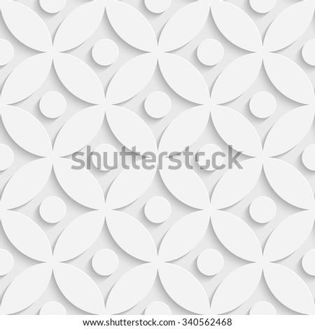 Vector Oriental Background. Regular White Texture - stock vector