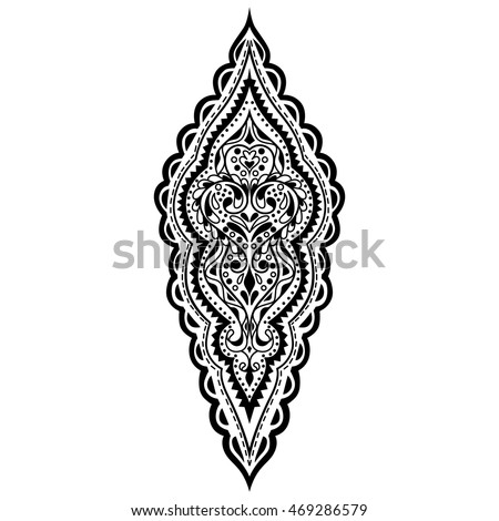 vector oriental pattern black white ornament stock vector royalty rh shutterstock com Repeating Pattern Design Patterns Vector Wallpaper Patterns