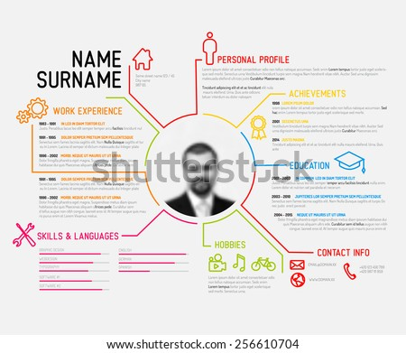 create your own resume template stock vector original minimalist creative version builder free microsoft word my