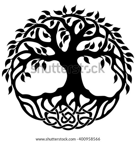 Vector Ornament Decorative Celtic Tree Life Stock Vector ...
