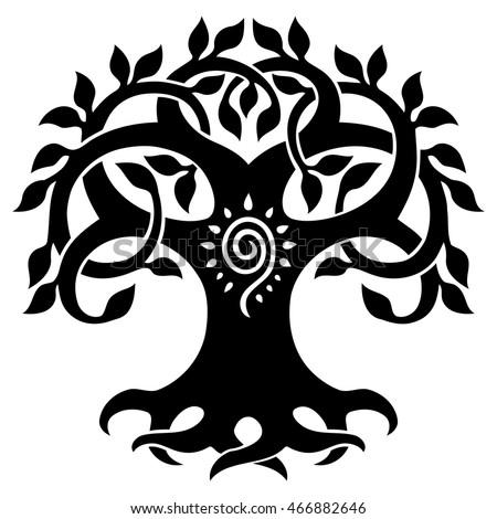 vector ornament decorative celtic tree life stock vector royalty