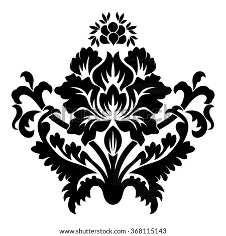 Vector ornament. Decorative vintage elements for design.