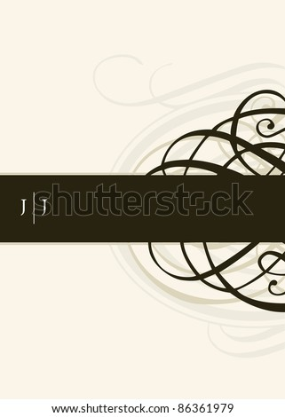 Vector Ornament Frame. Easy to edit. Perfect for invitations or announcements. - stock vector