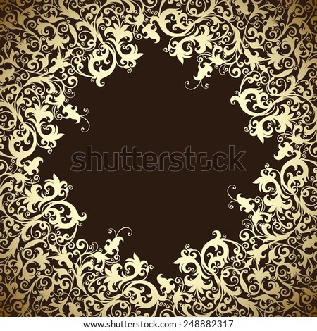 vector ornament In floral style