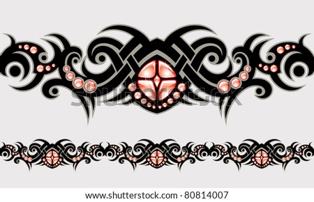 vector ornament In tribal style - stock vector